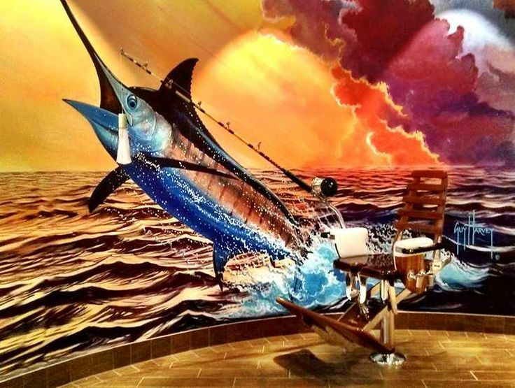 Guy harvey guy harvey artist and others well known for Harvey s paint and body