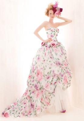 robe de mariée à fleurs  Robe de mariée de créateur  Pinterest