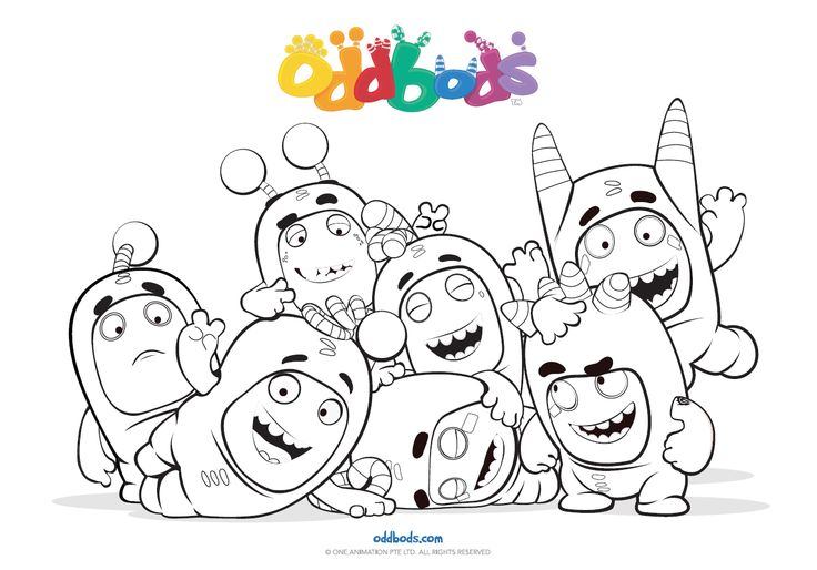 Oddbods Coloring Sketch Coloring Page
