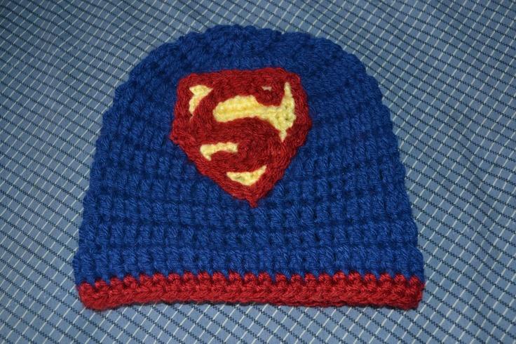Crochet Superman Hat Crochet Fun Pinterest