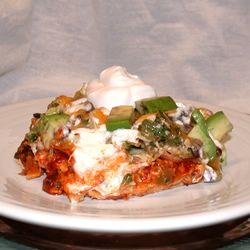 Layered Chicken and Black Bean Enchilada Casserole - made it and it's ...
