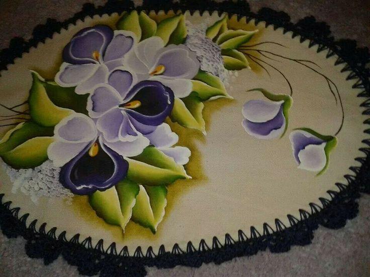 Aplique alfombra pintura en tela pinterest - Pintura en tela dibujos ...