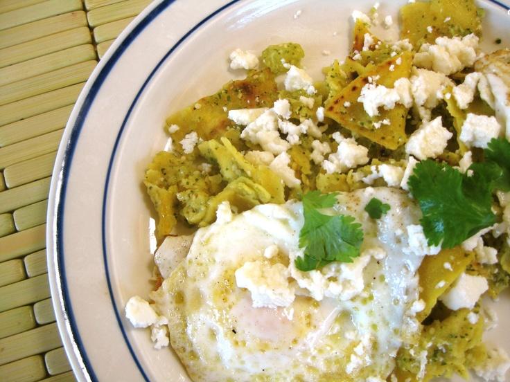 chilaquiles verdes | Sabor de Mexico | Pinterest