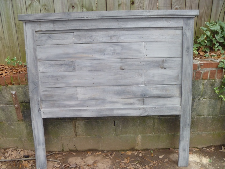 Pallet headboard pallet furniture pinterest for How to make a headboard out of pallets