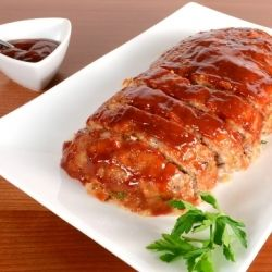 Turkey Meatloaf with Brown Sugar-Ketchup Glaze