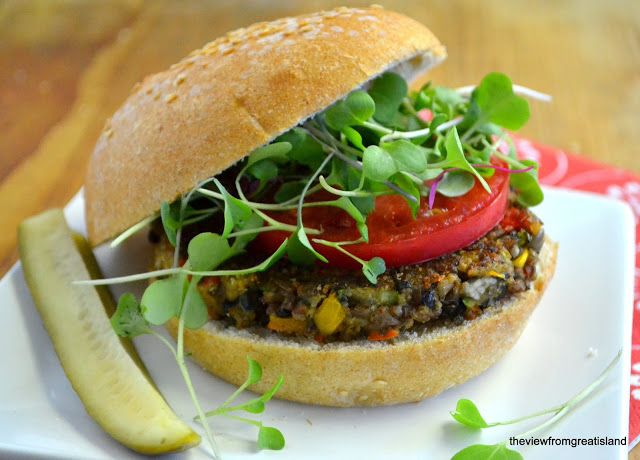 Veggie and Rice Burger   Food - Mains - Beans   Pinterest