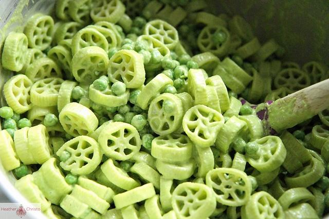 Creamy Basil Pasta Salad with Peas and Feta | Recipe