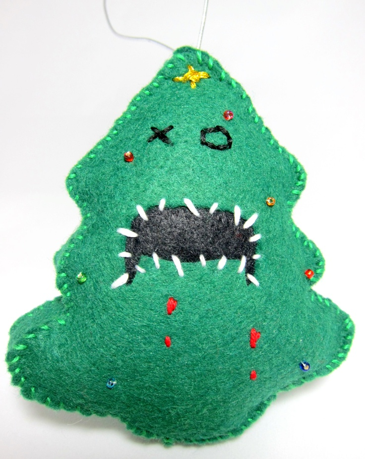 Zombie Christmas Tree Ornament | DIY Christmas Ornaments | Pinterest