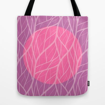 Purple  Pink Jungle Moon Tote Bag #endlesssummer #society6 #tote