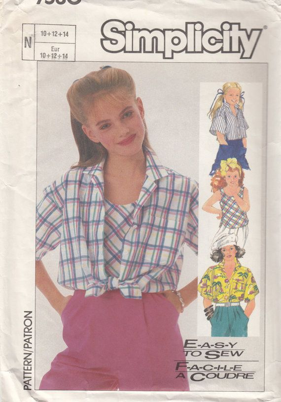 Girl Blouse Sewing Pattern 27