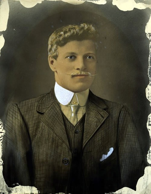 New Zealand. Portrait of Fred Evans by Dick Scott, c1913. Evans was killed during the 1912 Waihi strike.