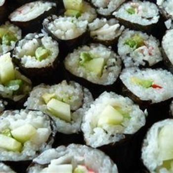 Cucumber and Avocado Sushi | ♥ Avocado Recipes - YUM ♥ | Pinterest