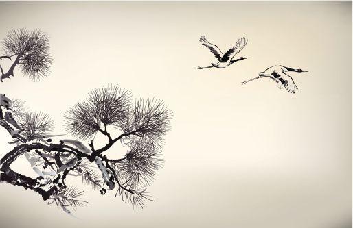 Pine tree mural...