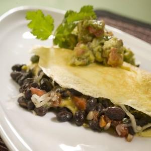 Black Bean Omelette with Avocado Salsa Verde - Monkey Nutrition ...