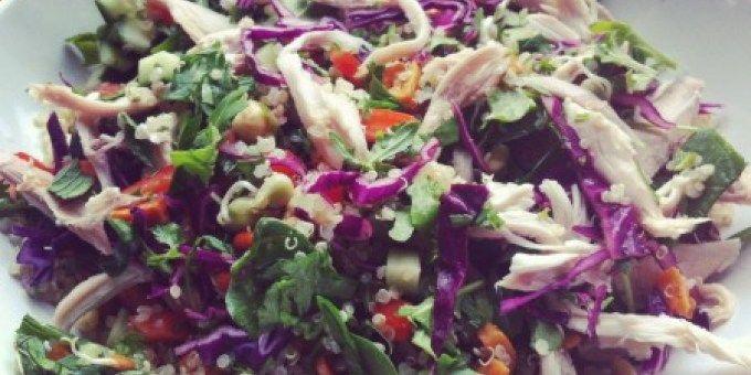 Roast Chicken + Quinoa Salad