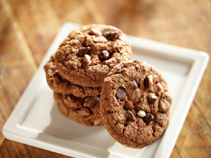 Chocolate-Glazed Chocolate-Hazelnut Cookies Recipe — Dishmaps