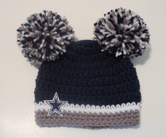 Crochet Dallas Cowboys Inspired/Hat/Beanie/Sports/Newborn ...