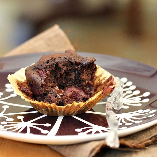 Double Chocolate Cherry Muffins | Cup Cakes | Pinterest