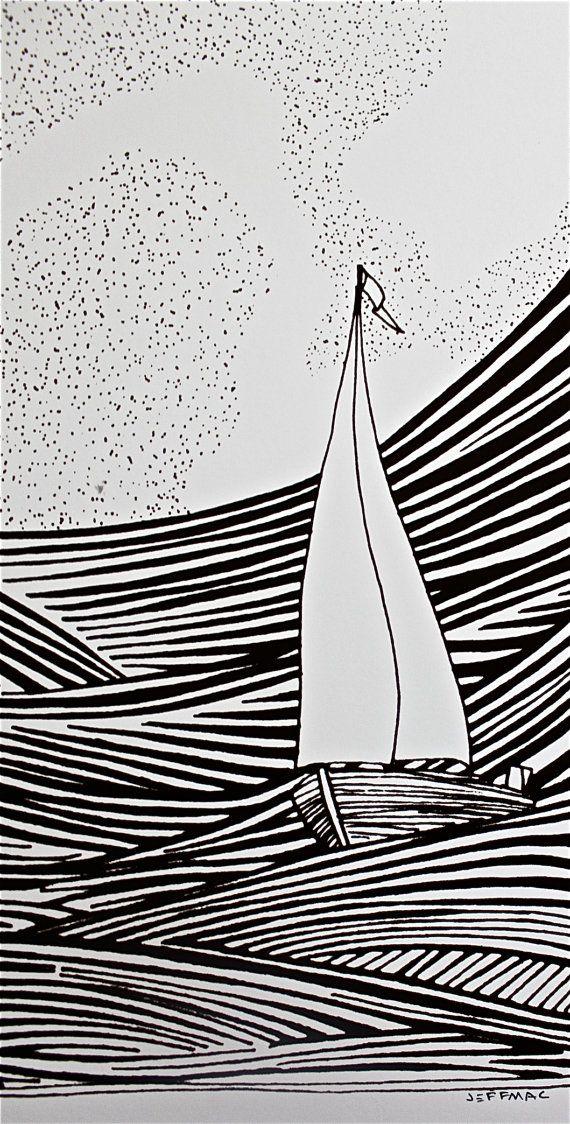 Line Drawing Yacht : Sailboat drawing sketching s pinterest