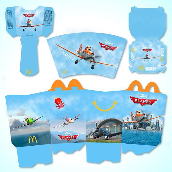 McDonald s Happy Meal - Planes by Michael Biernat  via BehanceMcdonalds Pizza Happy Meal