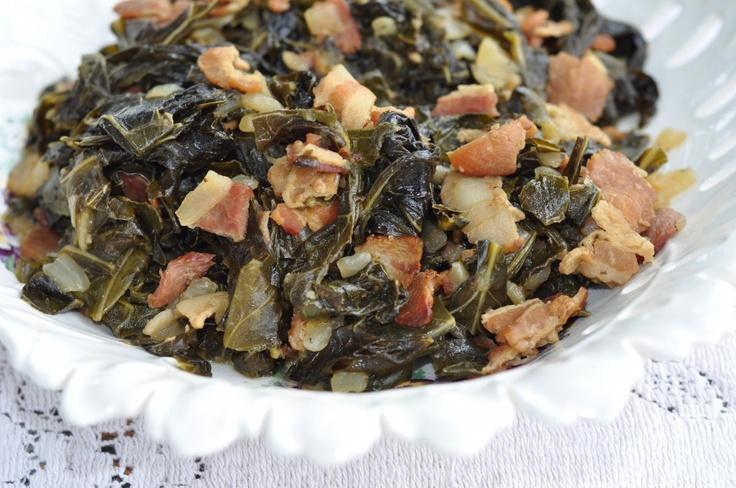 Collard Greens & Bacon Recipe | CSA Stuff | Pinterest
