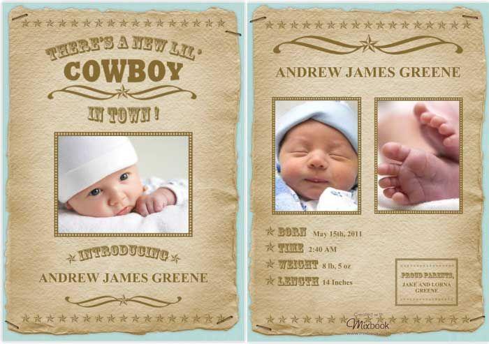 New Baby Announcement Gift Ideas : Unique photo birth announcement ideas
