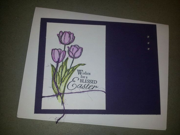 Stampin Up Easter tulips. 2014 | My own cards | Pinterest