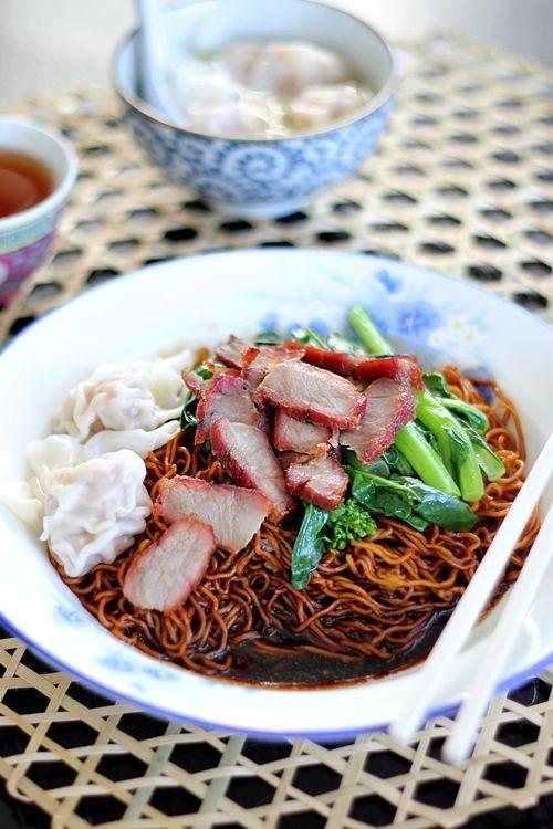 Wonton Noodles (Wantan Mee) | yummy food | Pinterest