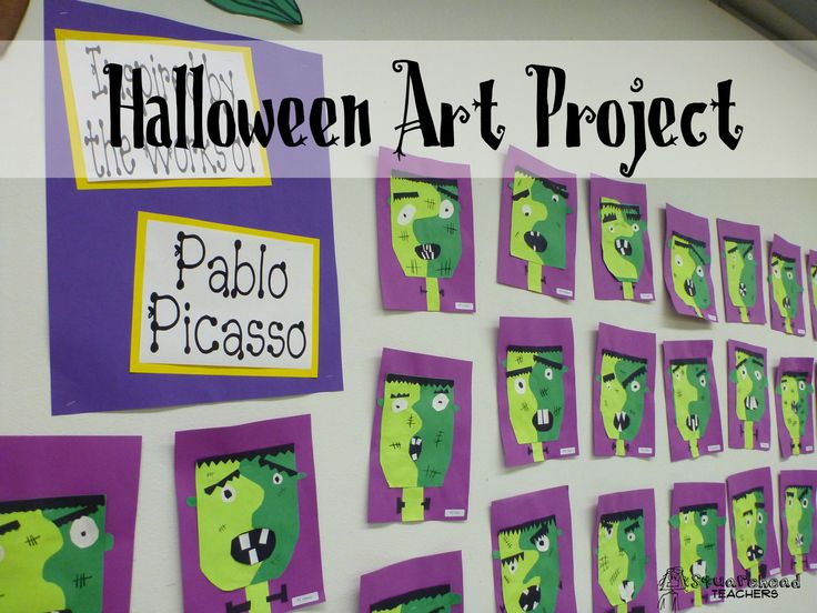 Halloween Art Project: Picasso's Frankenstein Have a Picasso print and a pic of Frankenstein... See what they come up with from there...