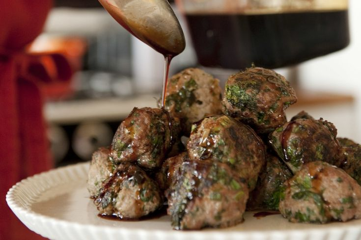 Scallion Meatballs With Soy-Ginger Glaze by Julia Moskin