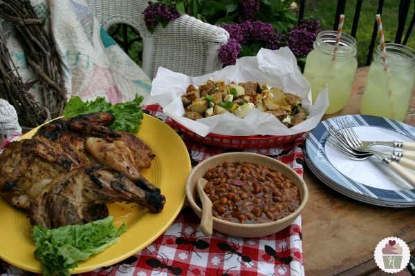 Grilled Butterflied Chicken with Smokehouse Tradition Beans