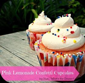Pink Lemonade Confetti Cupcakes