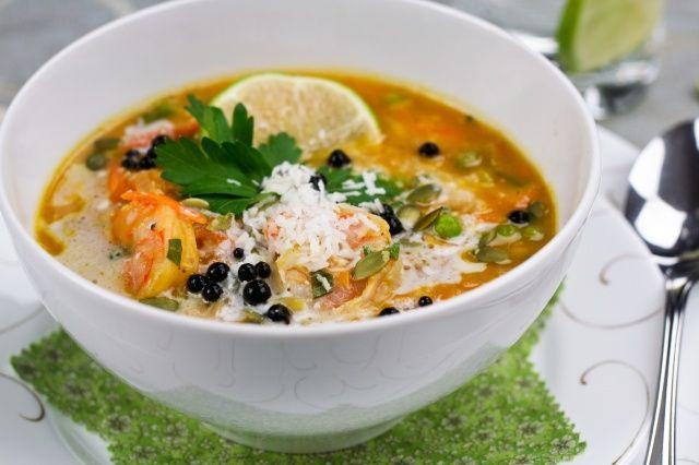 Pumpkin Coconut and Shrimp Chowder   Recipe
