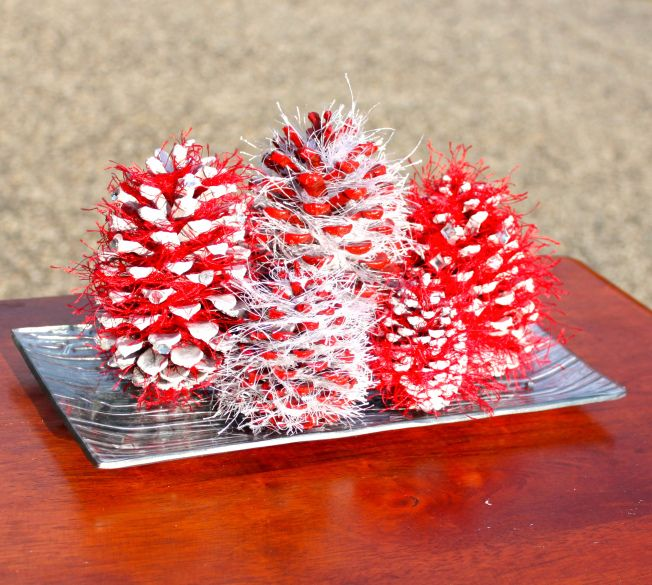 Pin by jo on stay at home life pinterest for Pine cone christmas tree craft