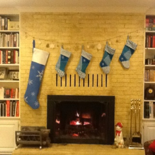 Stockings hung over the fireplace for the home pinterest for Stocking clips for fireplace