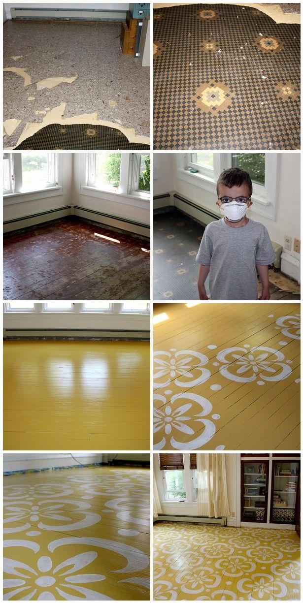 Painted wood floors!