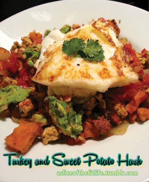 Brunch inspired clean breakfast dish! Turkey and Sweet Potato Hash ...