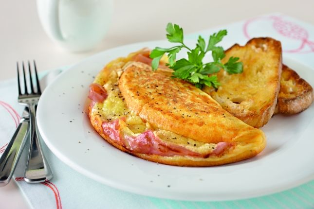 Ham and Cheese Omelette | Vitamix Recipes | Pinterest