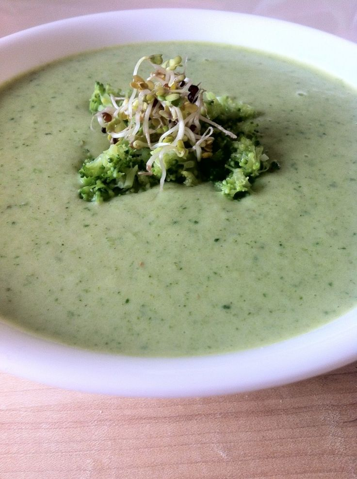 Vegan Cream of Broccoli Soup | Marathon Training | Pinterest