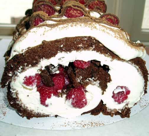 flourless dark chocolate cake roll | I Heart Food! | Pinterest