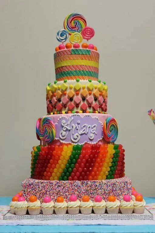 Cake Decorating Ideas With Lollies : Lolly cake Cake decorating Pinterest