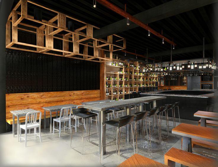 Rustic restaurant 3d rendering concept 3d restaurant for Rustic concept