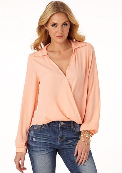 Zoe Open Front Long Sleeve Blouse 28