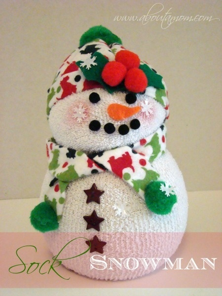 How to make a sock snowman about a mom christmas pinterest