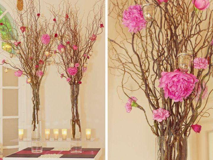 Tall wedding decor