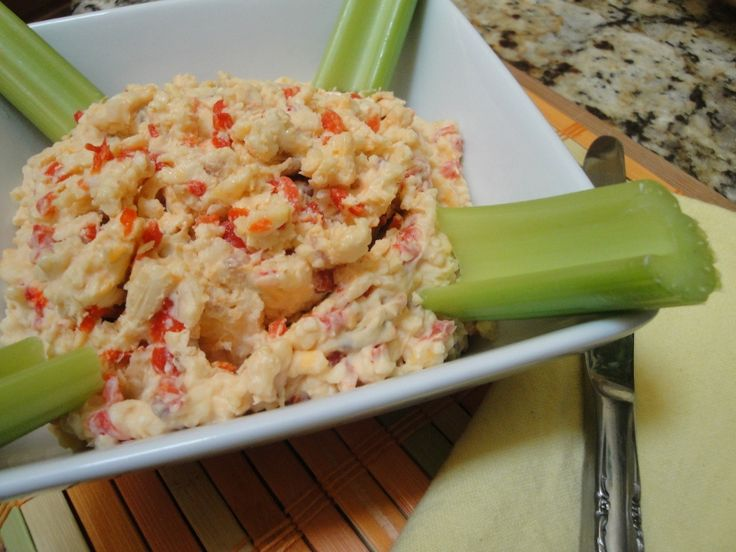 Homemade pimento cheese with a kick
