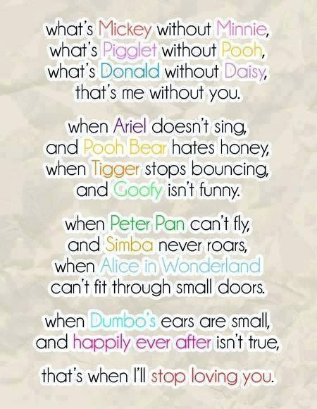 I Love You Quotes Disney : Disney I Love You quotes poem Quotes/Phrases Pinterest