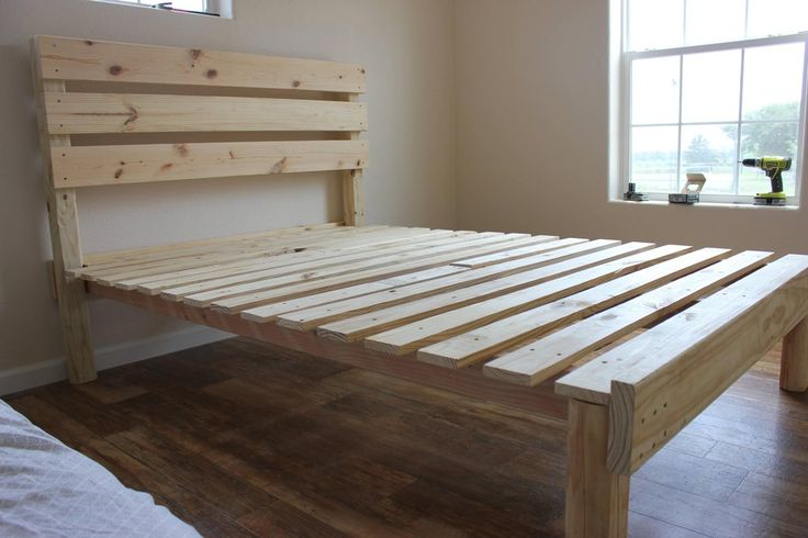how to build a pallet bedframe