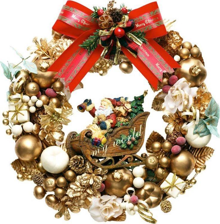 Corona de navidad viendo para navidad pinterest - Coronas de navidad ...