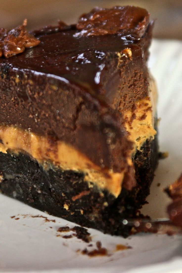 Peanut Butter Fudge Cake Recipe--may never make this but it sure looks ...